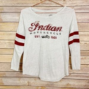 Indian Motorcycles Lucky Brand 3/4 Sleeve Tee